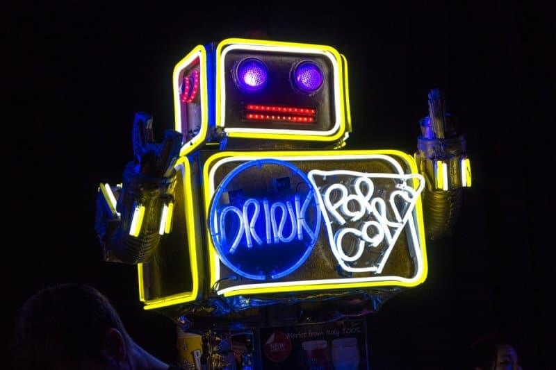 Robot Restaurant Drink Popcorn