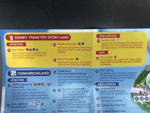 Toy Story Land Map Description