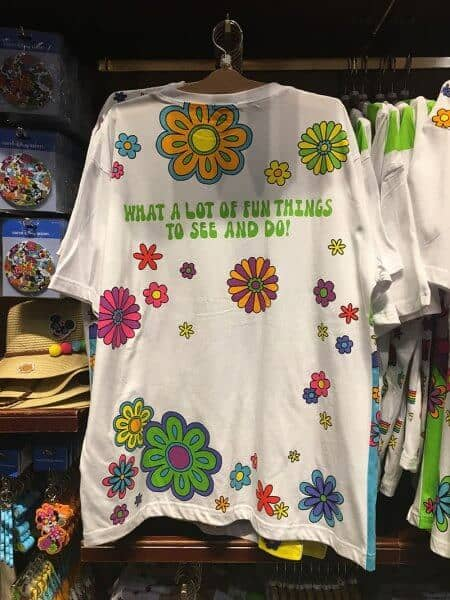 Donald What Fun! Flowers T-shirt Back