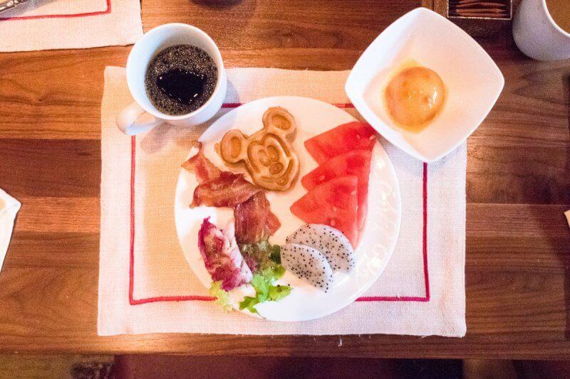 Dragon Wind Breakfast Food Mickey Waffle