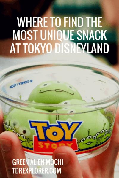 Green Alien Mochi Tokyo Disneyland Pinterest