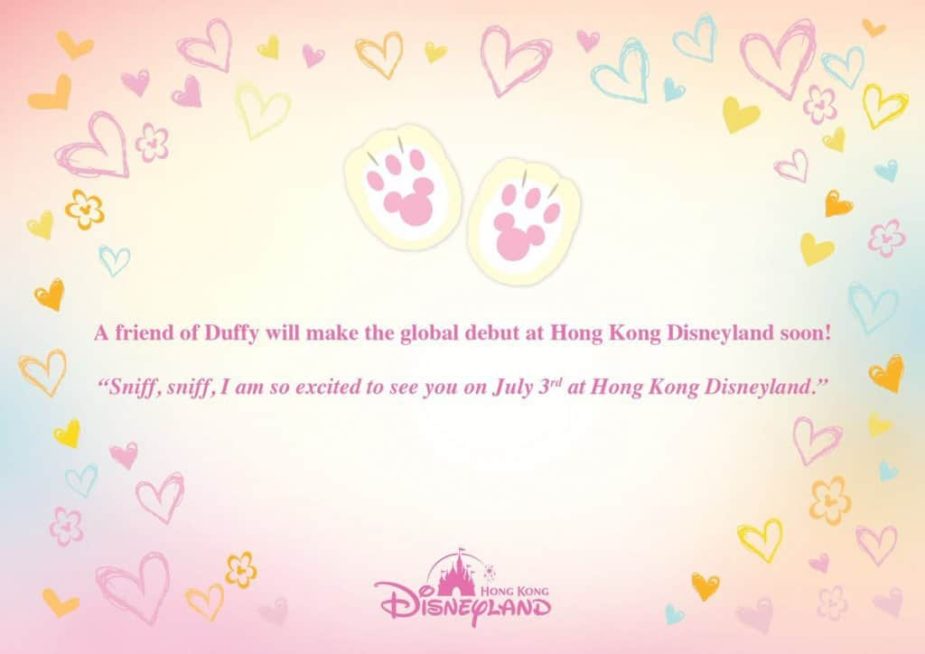 New Friend of Duffy Debuts July 3 at Hong Kong Disneyland