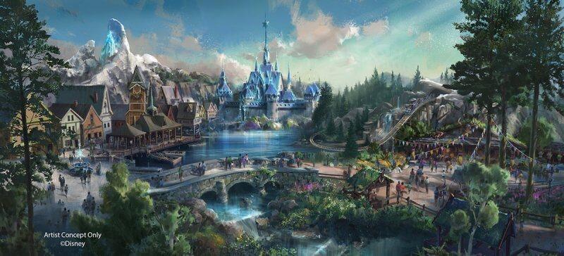 Frozen-themed land concept art