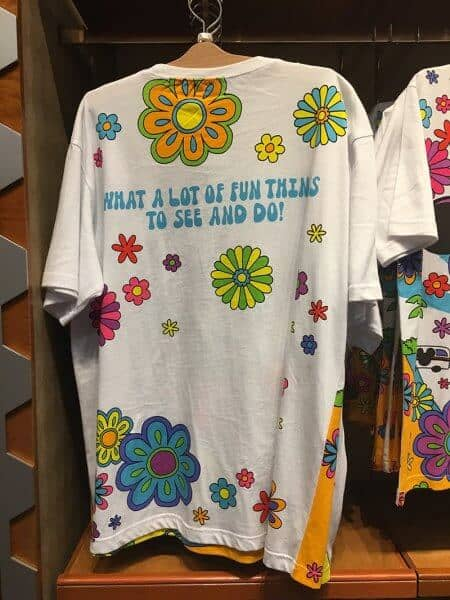 Mickey What Fun! Flowers T-shirt Back