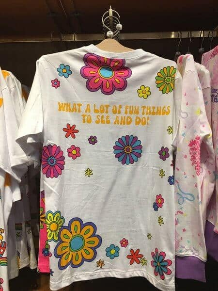 Minnie What Fun! Flowers T-shirt Back