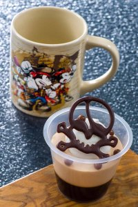 Caramel Mousse and Souvenir Cup