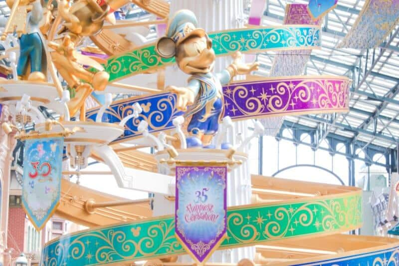 Mickey Statues World Bazaar Tokyo Disneyland