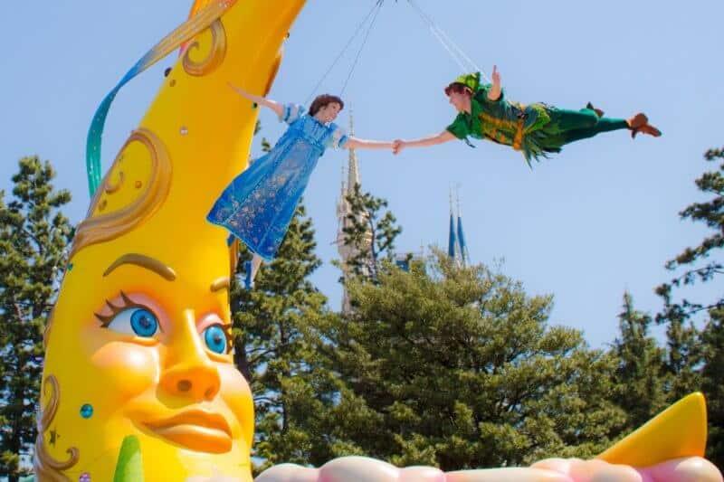 Peter Pan Wendy Flying Tokyo Disneyland