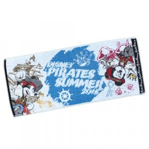 Pirates Summer Mickey Face Towel