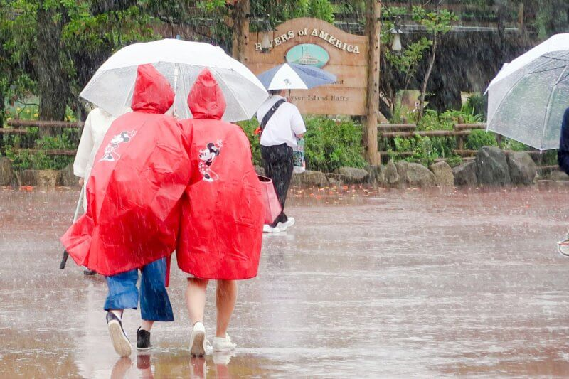 Rain Tokyo Disneyland