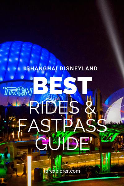 Shanghai Disneyland Best Rides TRON