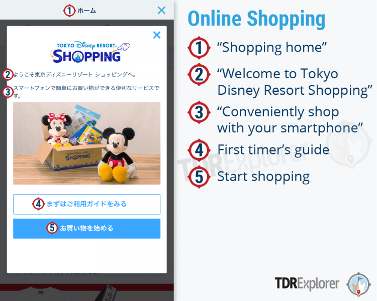 Tokyo Disney Resort App Online Shopping B