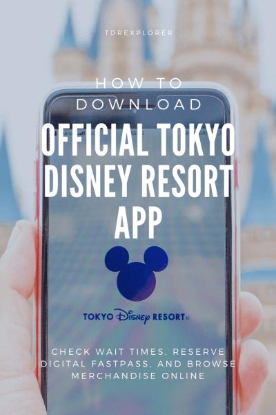 Tokyo Disney Resort App Pinterest