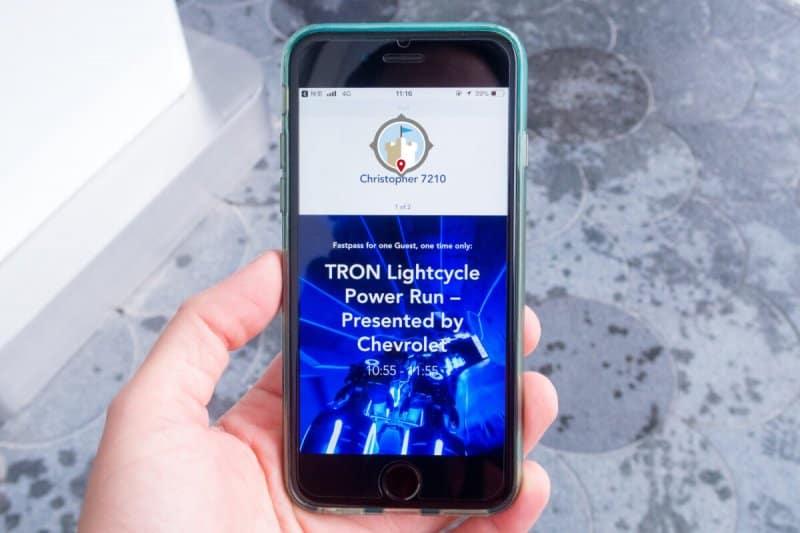 TRON FastPass Shanghai Disneyland App