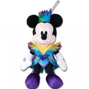 Let's Party Gras Mickey Plush Badge