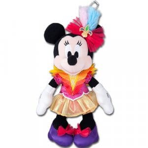 Let's Party Gras Minnie Plush Badge
