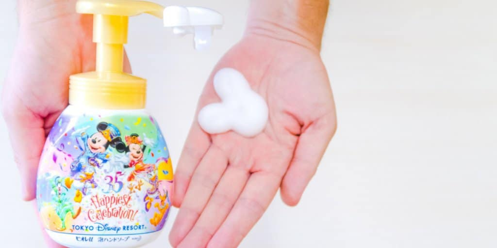 Mickey Hand Soap Dispenser from Tokyo Disney Resort