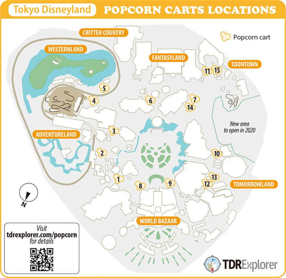 Disneyland Locations World Map.Tokyo Disneyland Popcorn Buckets Flavours Guide 2019 Tdr Explorer