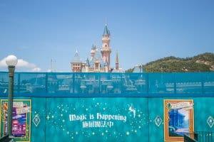 Hong Kong Disneyland Castle Construction Summer 2018 Front Close
