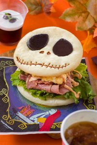 Jack Skellington Pastrami and Egg Sandwich