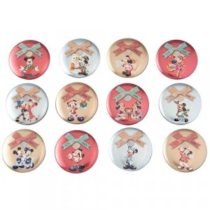 Can Badge Set Tokyo Disney Resort 35th Anniversary Christmas