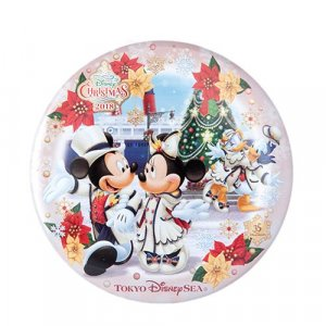 Can Badge Tokyo DisneySea Christmas 2018