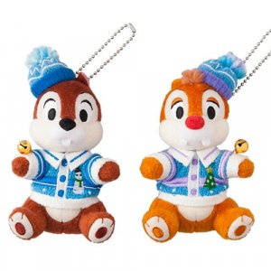 Chip and Dale Plush Badge Set Tokyo Disneyland Christmas 2018