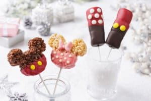 Mickey and Minnie marshmallow and crispy rice lollipops