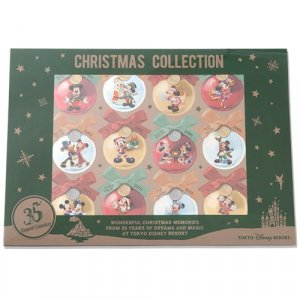 Clear File with Stickers Tokyo Disney Resort 35th Anniversary Christmas