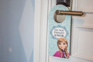 Door Sign Anna Frozen Suite Hong Kong Disneyland Hotel