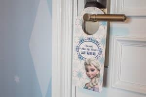 Door Sign Elsa Frozen Suite Hong Kong Disneyland Hotel