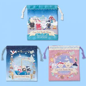 Drawstring Bag Set Duffy and Friends Twinkle Winter 2018
