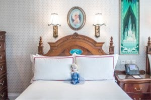 Elsa Plush Bed Frozen Suite Hong Kong Disneyland Hotel