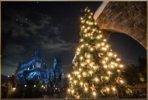 Hogsmead Christmas Tree at Universal Studio Japan