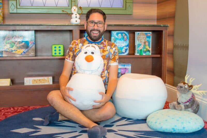 Olaf Cushion Frozen Suite Hong Kong Disneyland Hotel
