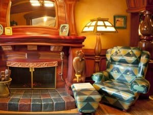 Original armchair in Mickey's house