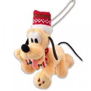 Pluto Plush Badge Tokyo Disneyland Christmas 2018