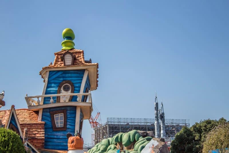 Tokyo Disneyland Beauty and the Beast Construction from Toontown Close