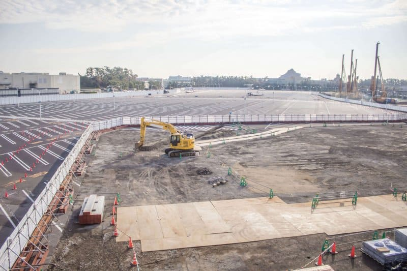 Tokyo DisneySea Expansion Construction Fall 2018 Parking Lot 1