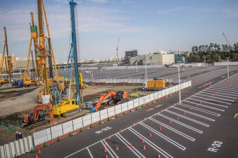 Tokyo DisneySea Expansion Construction Fall 2018 Parking Lot 5