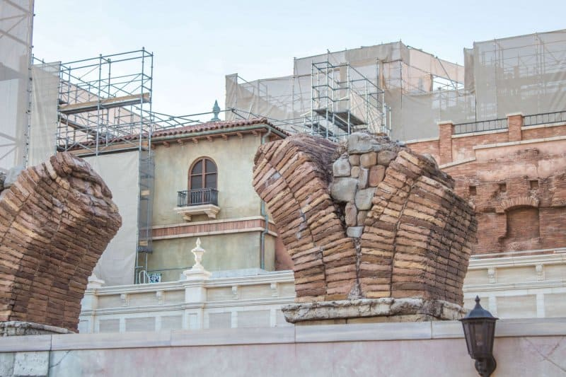 Tokyo DisneySea Soaring Fantastic Flight Construction Facade Close Up