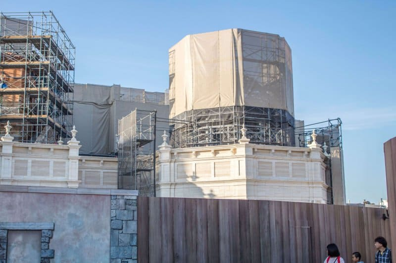 Tokyo DisneySea Soaring Fantastic Flight Construction Facade Close Up Side