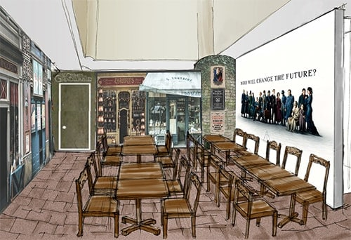Harry Potter Cafe Concept Art