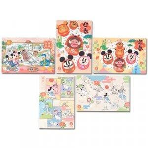 Card Set Tokyo Disney Resort Merchandise New Year 2019