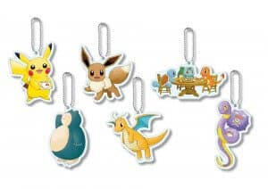 Keychains Let's Go Pokémon Cafe