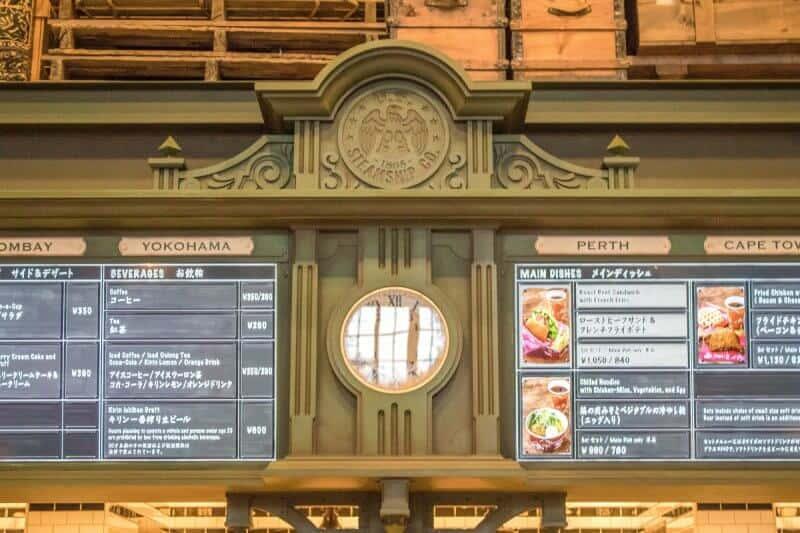 Dockside Diner Menu Signage Tokyo DisneySea