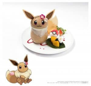 Eevee Pudding Let's Go Pokémon Cafe