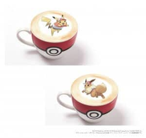 Hot Latte Let's Go Pokémon Cafe
