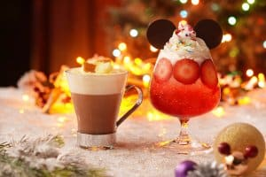 Iced Chocolate Cheese Cake and Mickey's Fun Party Drinks