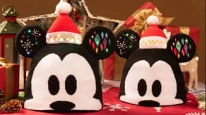 Mickey and Minnie Hats Shanghai Disneyland Christmas 2018